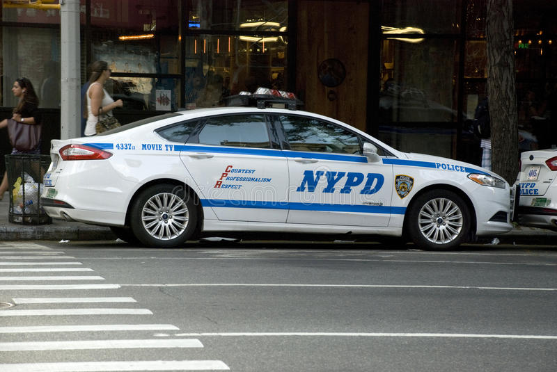 NYPD New York Police car - Manhattan royalty free stock images