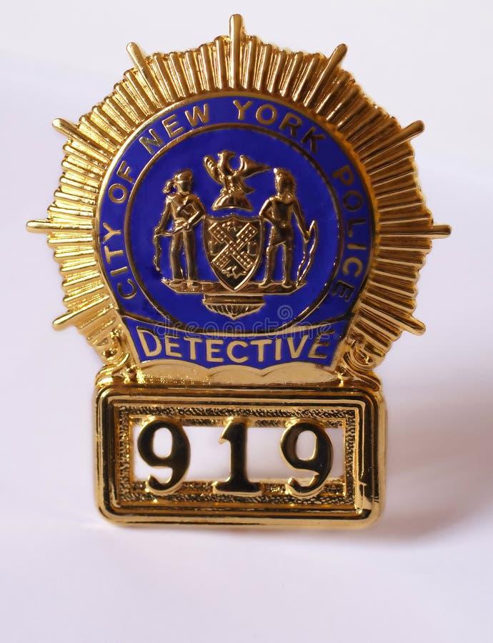 Nypd Polizeidetektivabzeichen lizenzfreie stockfotografie