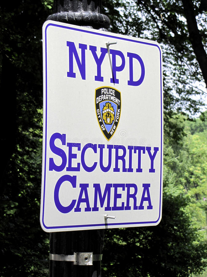 NYPD-säkerhetskamera royaltyfri foto