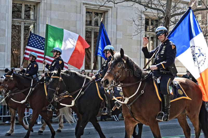 Download NYPD In Saint Patrick's Day Parade Editorial Stock Image - Image: 22708939