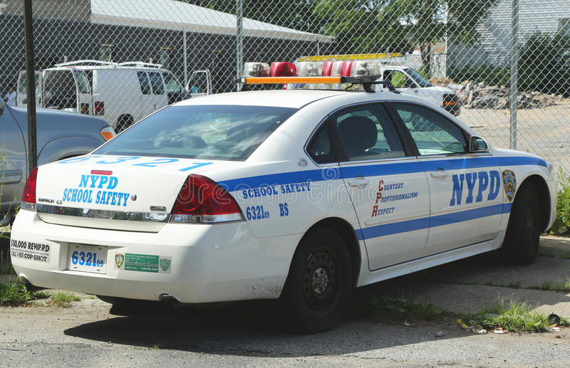 Download NYPD school safety car editorial photography. Image of department - 32581462
