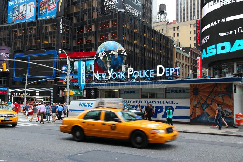 NYPD Times Square royalty free stock photos
