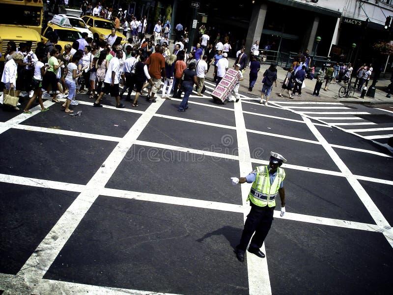 NYPD-Verkeerscop stock fotografie