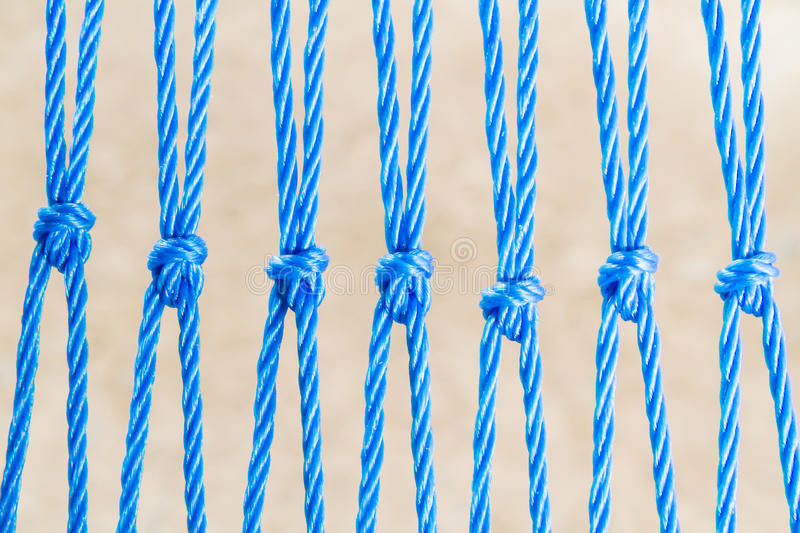 Nyron Ropes With Knot Stock Photo