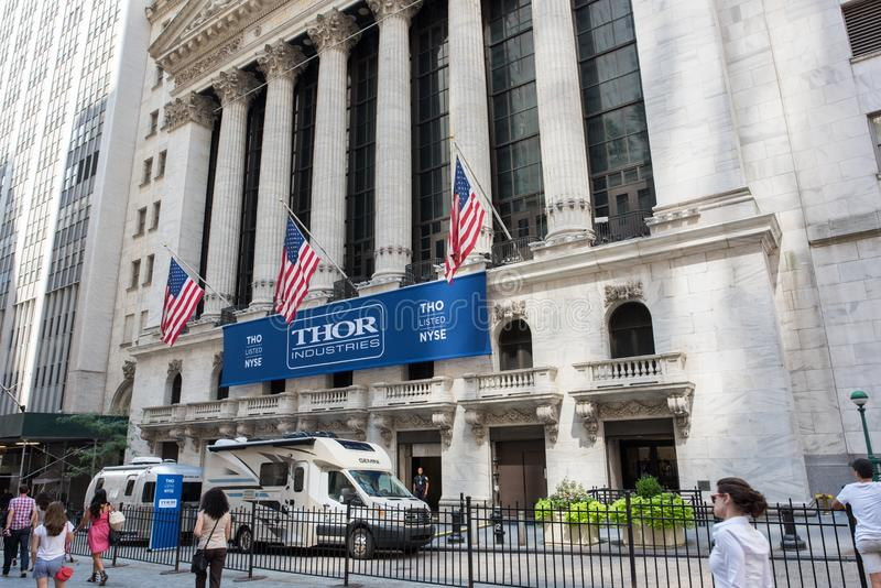 NYSE em Wall Street foto de stock
