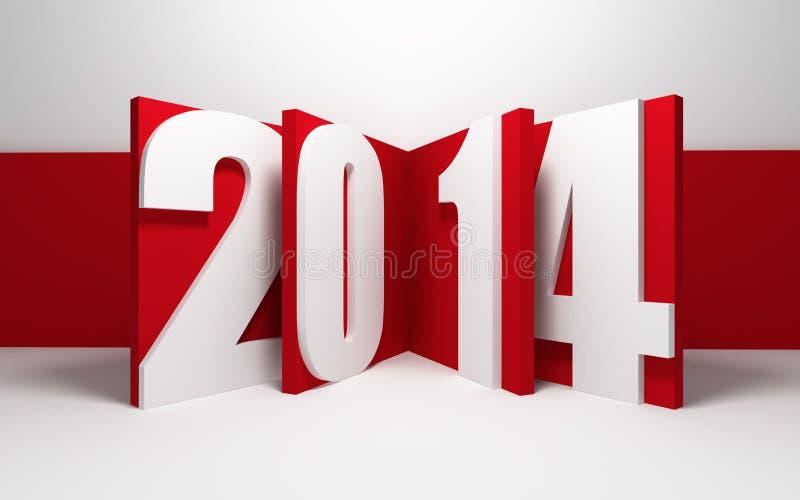 Nytt år 2014 royaltyfri illustrationer