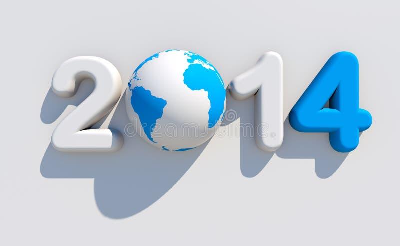 Nytt år 2014 stock illustrationer