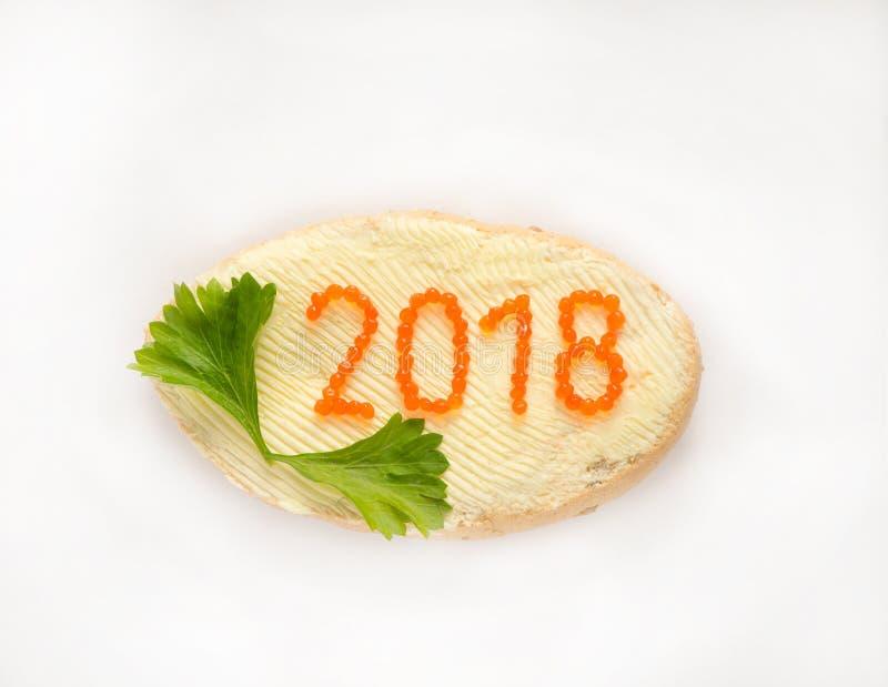 Nytt år 2018 royaltyfria foton