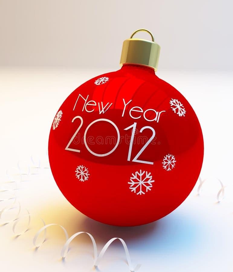 nytt år för bollar royaltyfria foton
