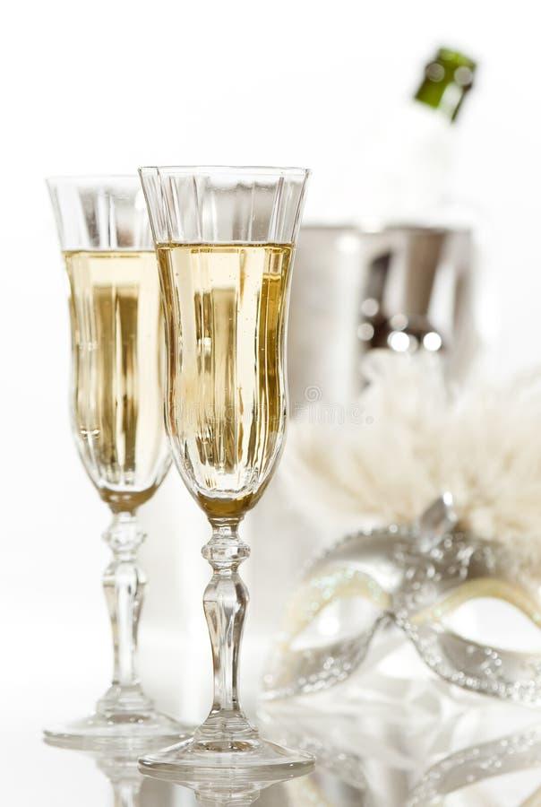 nytt år för champagne arkivbild