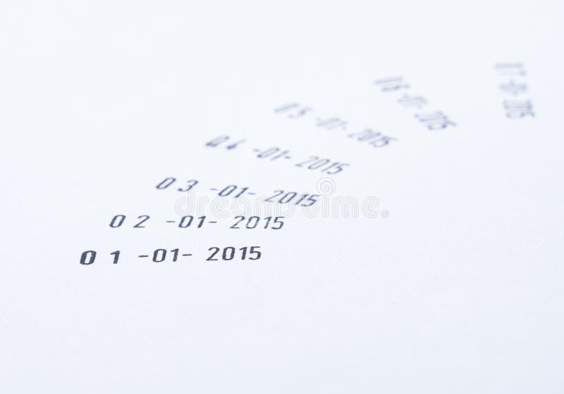 nytt år för datum arkivbilder