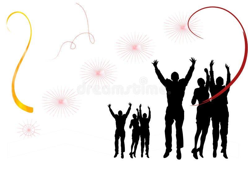Nytt år för deltagare royaltyfri foto