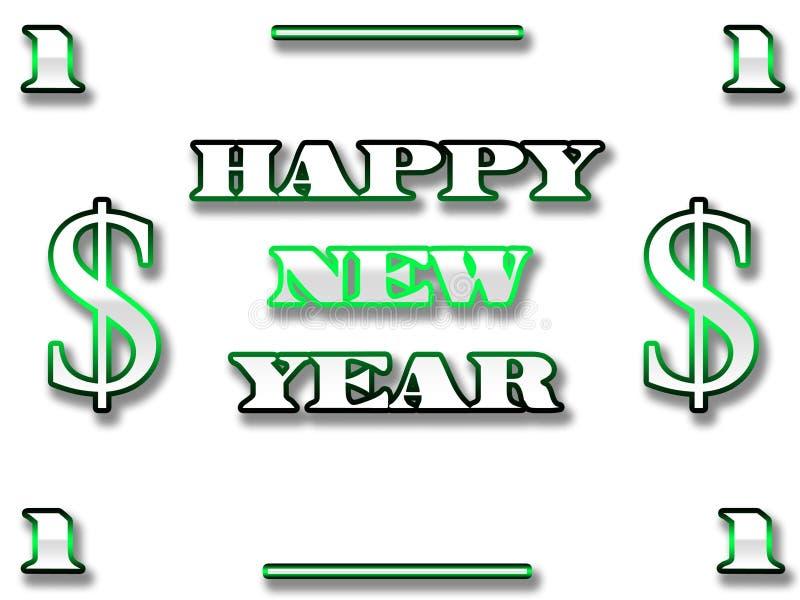 nytt år för dollar stock illustrationer