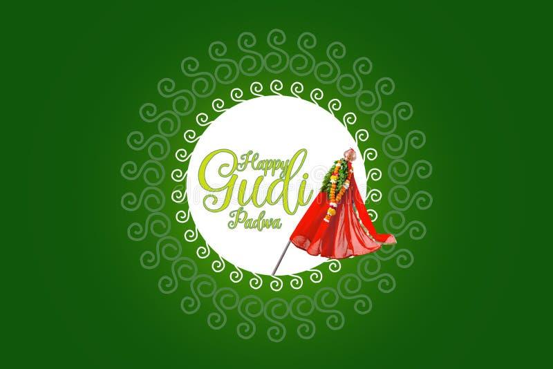 Nytt år för Gudi Padwa Marathi royaltyfri illustrationer