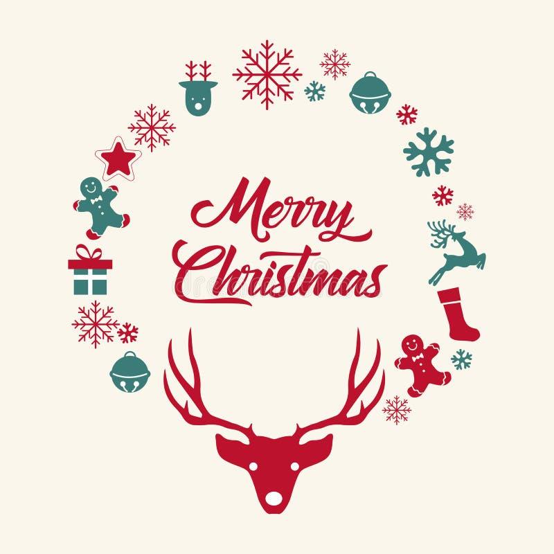 nytt år för jul royaltyfri illustrationer
