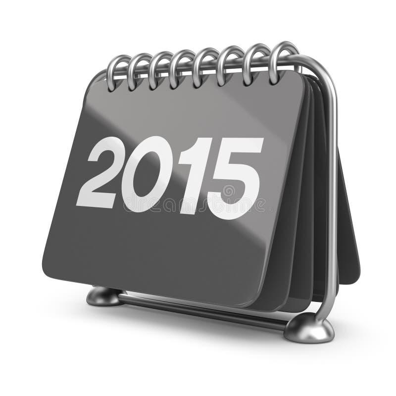 Nytt år 2015 för kalender symbol 3d royaltyfri illustrationer