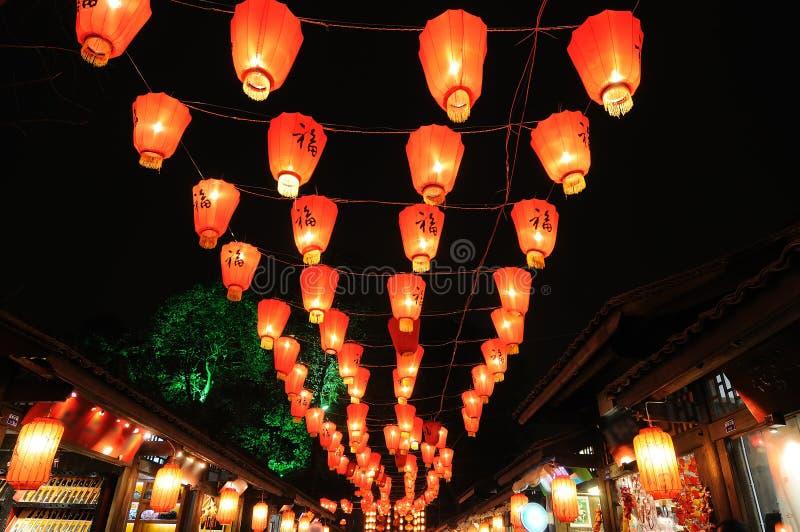 nytt år för kinesisk festivallykta royaltyfria foton