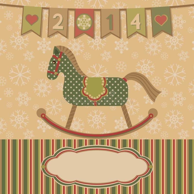 Nytt år 2014 med hästen.