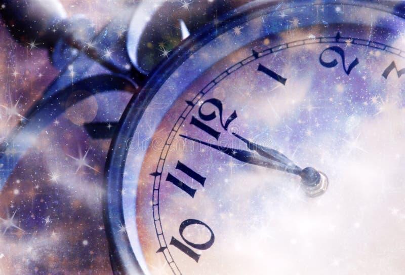 Nytt år på midnatt vektor illustrationer