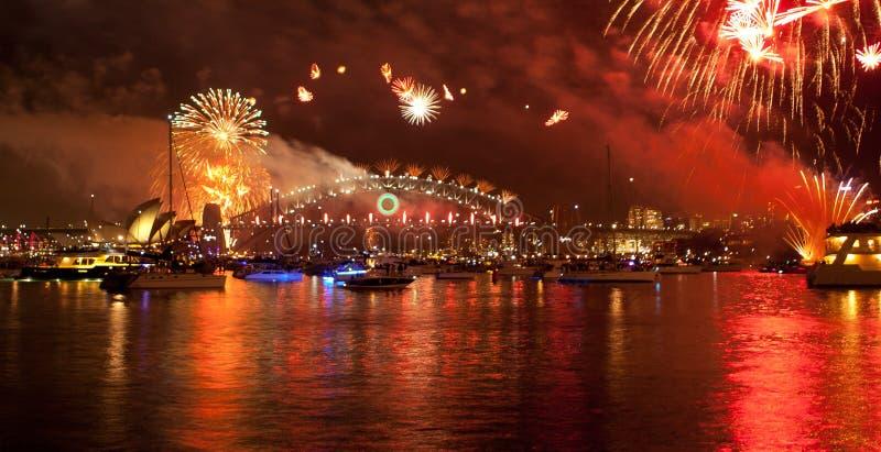 Nytt år \ 's-helgdagsafton Sydney arkivfoto