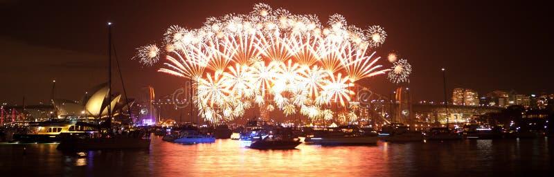 Nytt år \ 's-helgdagsafton Sydney fotografering för bildbyråer