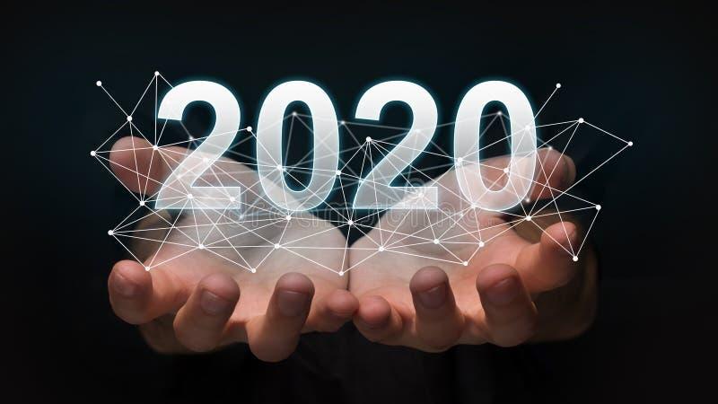 Nytt 2020 år teknologibegrepp arkivfoton