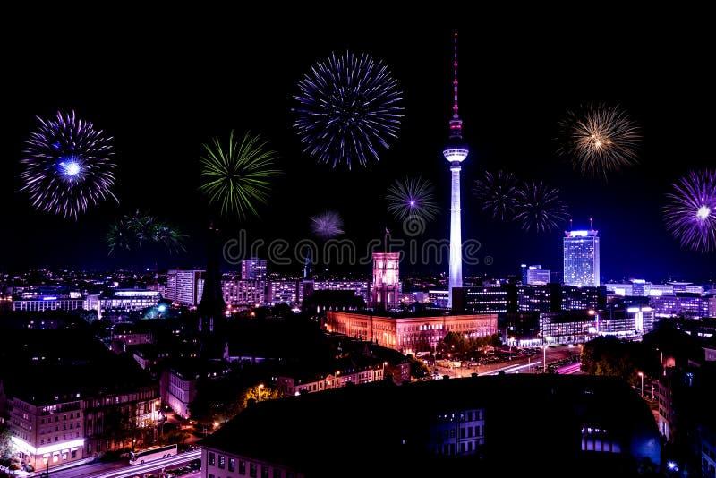 Nytt års helgdagsafton i berlin royaltyfri foto