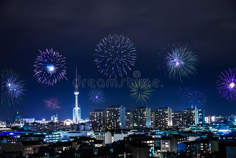 Nytt års helgdagsafton i berlin arkivbilder