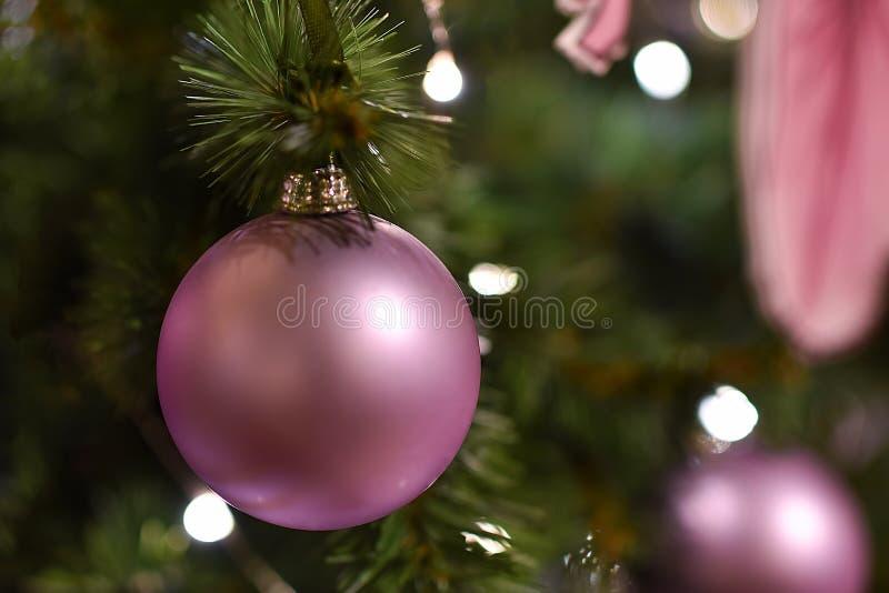 Nytt års matt julboll fotografering för bildbyråer