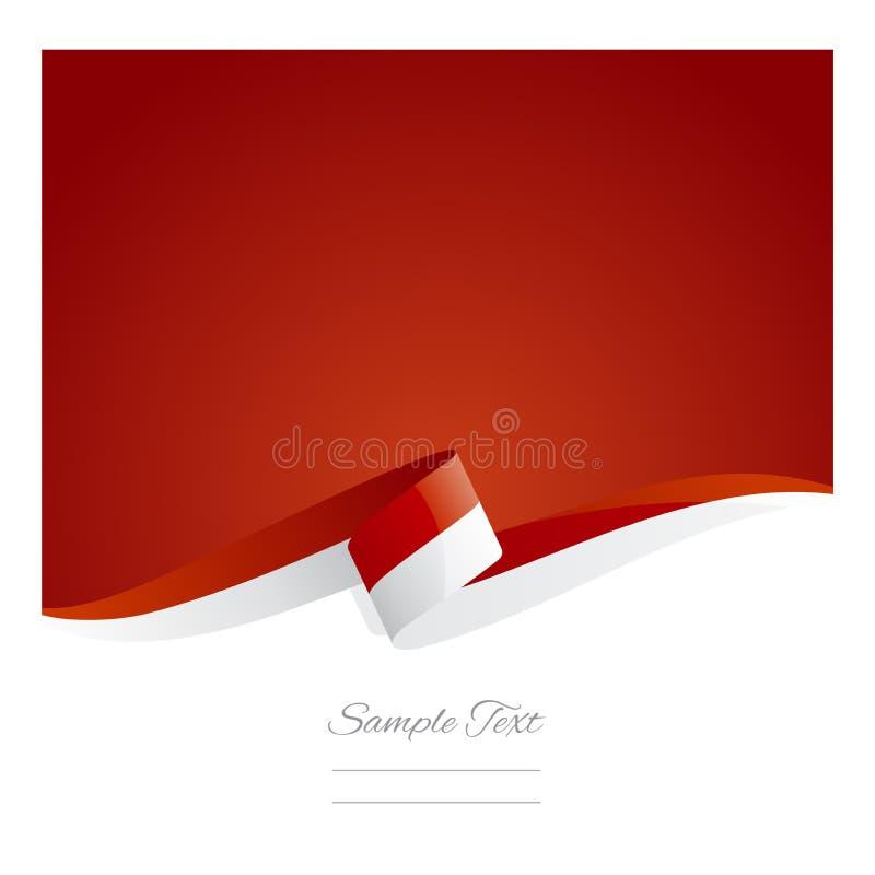 Nytt abstrakt baner för Monaco flaggaband royaltyfri illustrationer