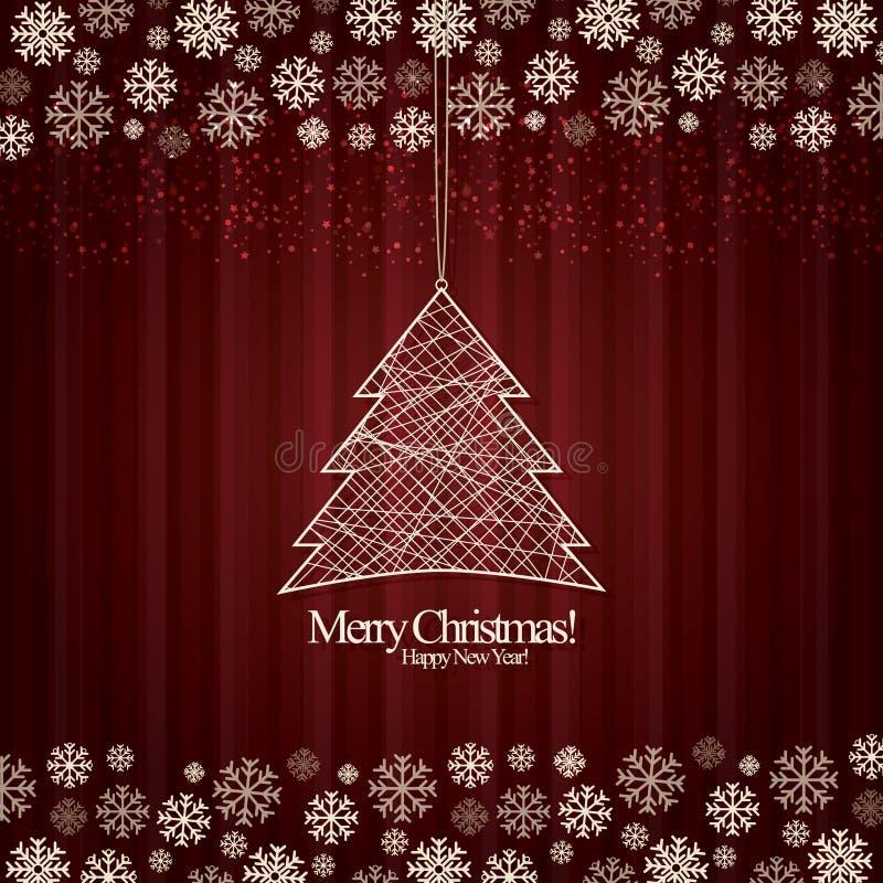 nytt år för jul vektor illustrationer