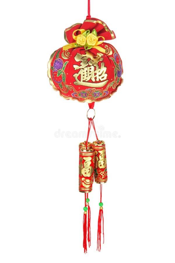 nytt år för kinesisk garnering royaltyfri bild