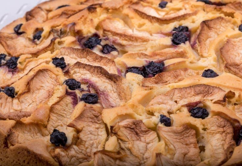 Nytt bakad söt kaka med frukt royaltyfri bild