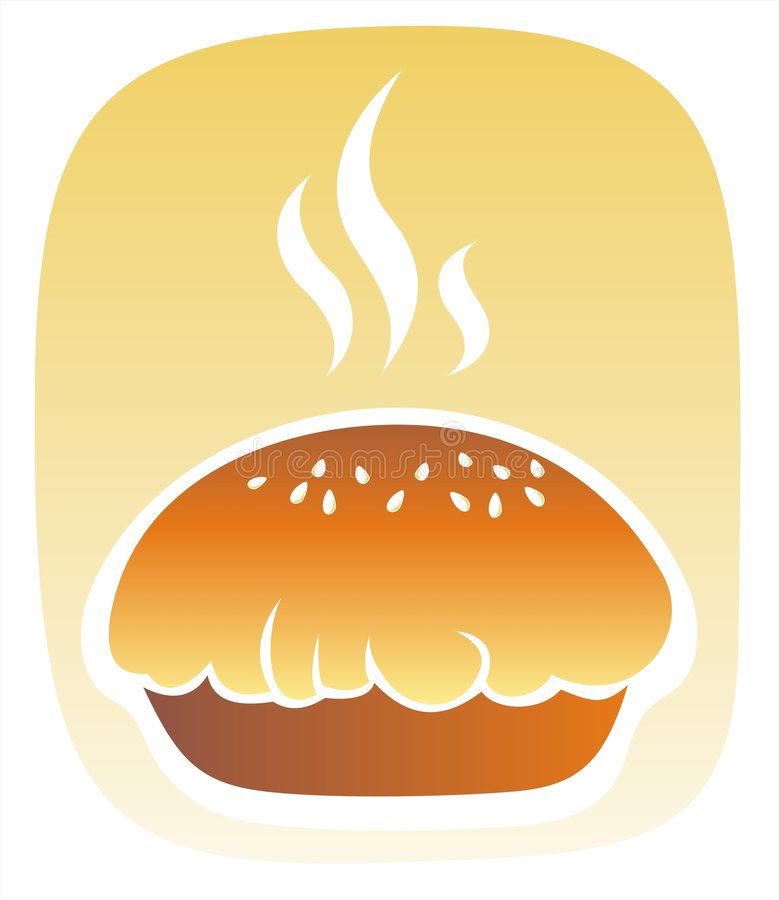 nytt bakat bröd vektor illustrationer