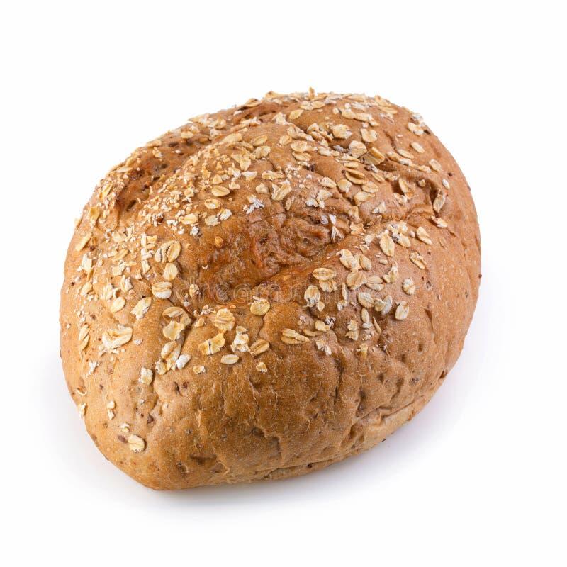 Nytt bakat bröd som isoleras på vit bakgrund arkivbild