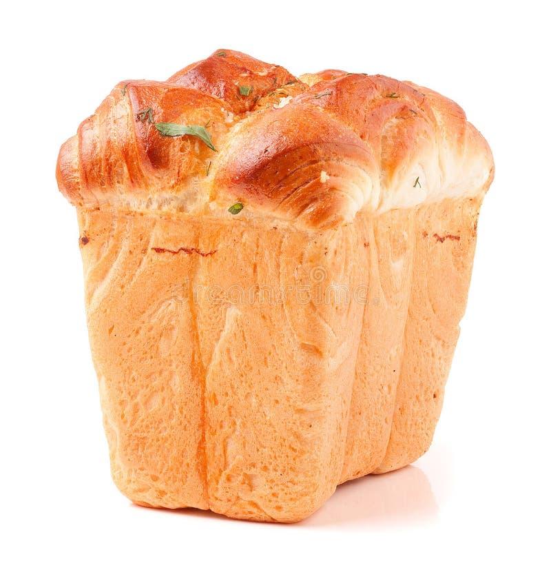Nytt bakningbröd, släntrar, panerar tenn arkivbild