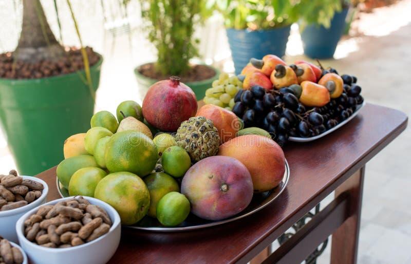 Nytt brasilianskt magasin för tropisk frukt royaltyfri foto