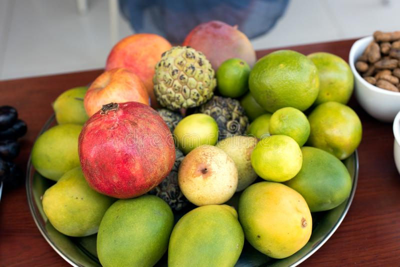Nytt brasilianskt magasin för tropisk frukt royaltyfri bild