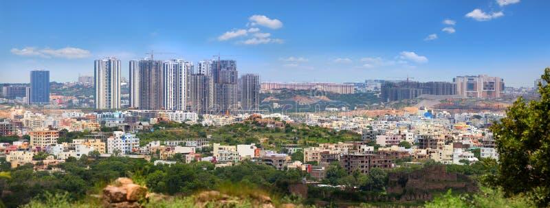 Nytt centrum i Hyderabad Indien arkivfoto
