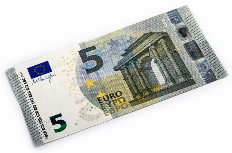 Nytt euro fem royaltyfria bilder