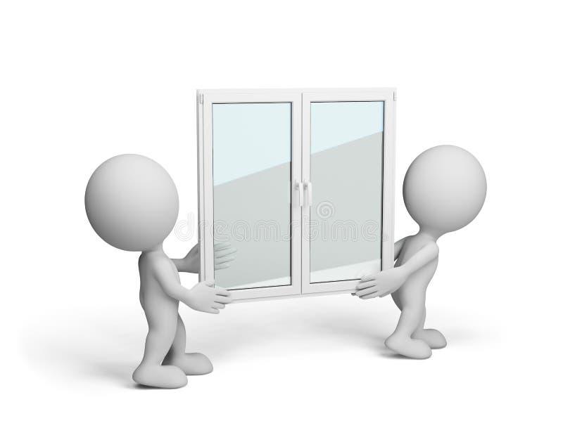 nytt fönster vektor illustrationer