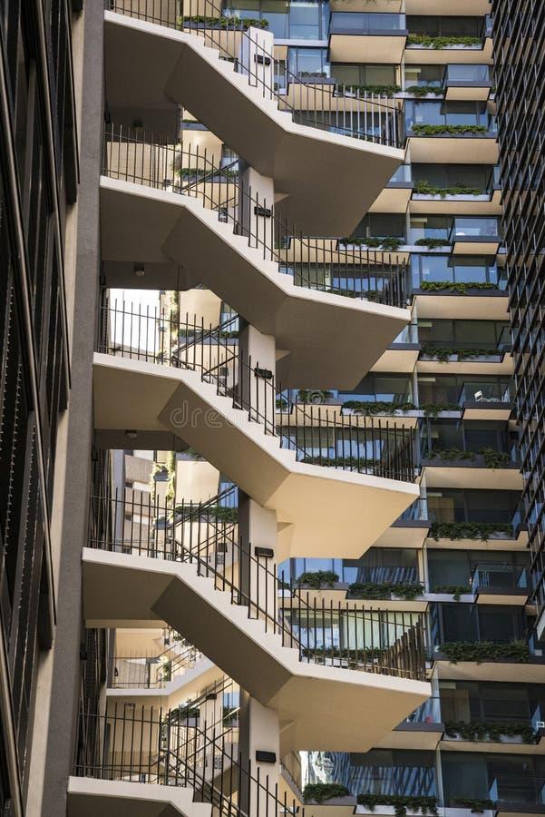 Nytt flerbostadshus som är chippendale-, Sydney, Australien arkivbild