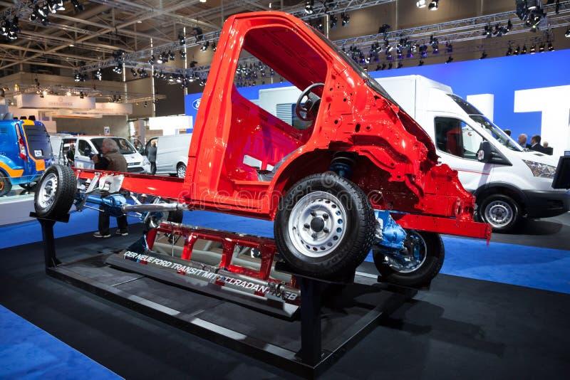 Nytt Ford Transit 4x4 chassi royaltyfri foto