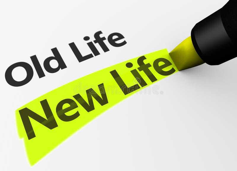 Nytt gammalt livbegrepp för liv kontra vektor illustrationer