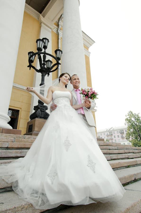 Nytt gift par royaltyfri foto