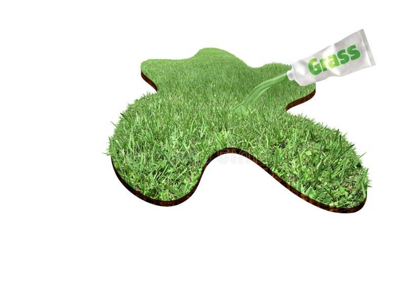 nytt gräs vektor illustrationer