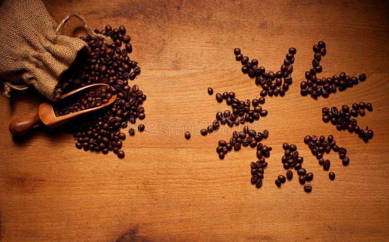 Nytt grillade kaffebönor Sun royaltyfri foto