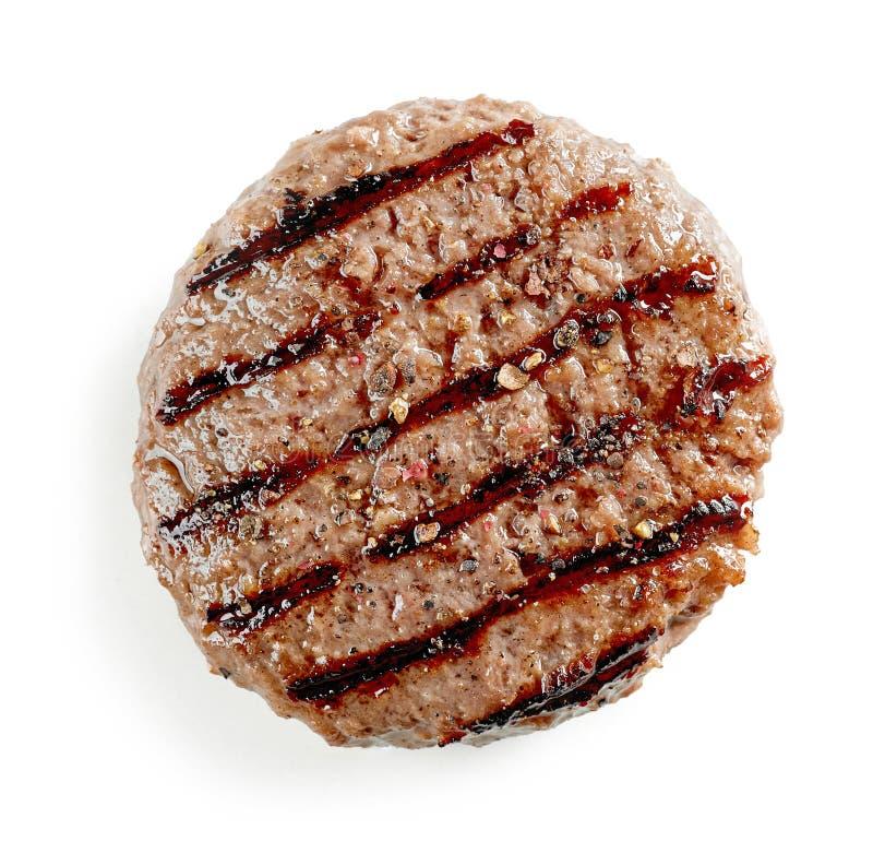 Nytt grillat hamburgarekött royaltyfri bild