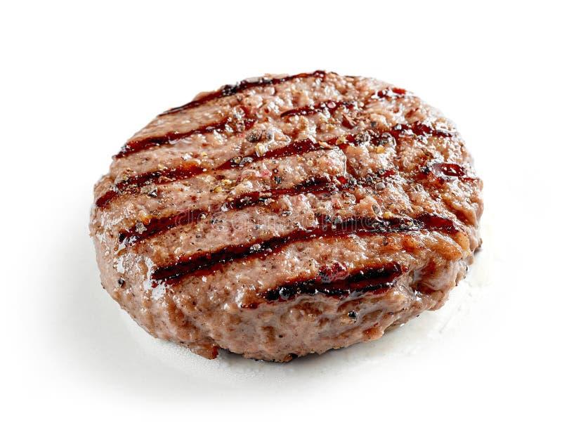 Nytt grillat hamburgarekött arkivfoto