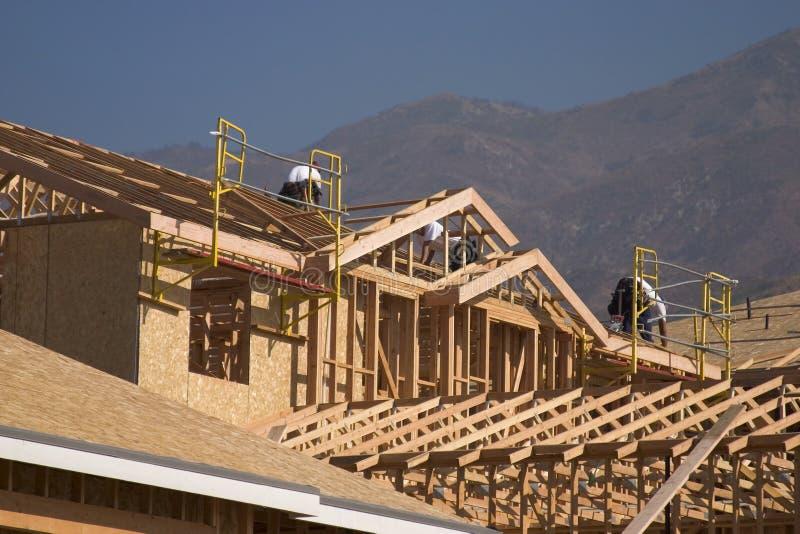 nytt home hus för konstruktion royaltyfri fotografi